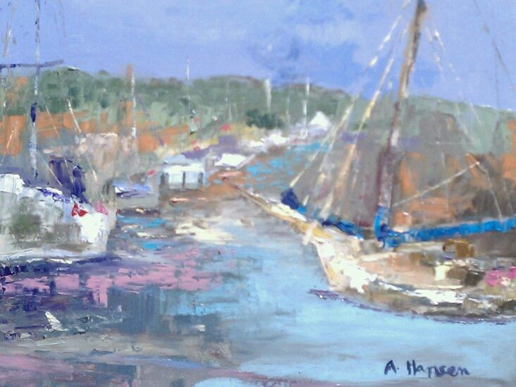 """""""Annapolis Duel"""" original fine art by Angela Hansen"""