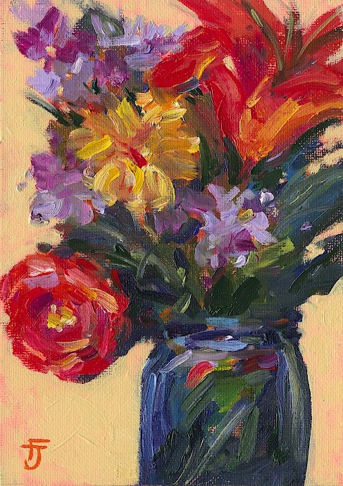 """Bouquet 1"" original fine art by Francine Dufour~Jones"