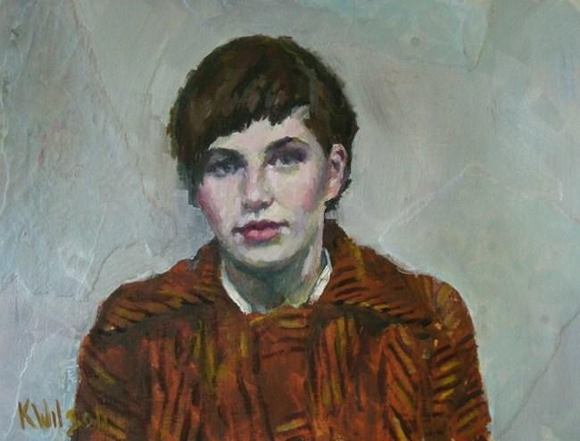 """""""Orange Coat"""" original fine art by Katie Wilson"""