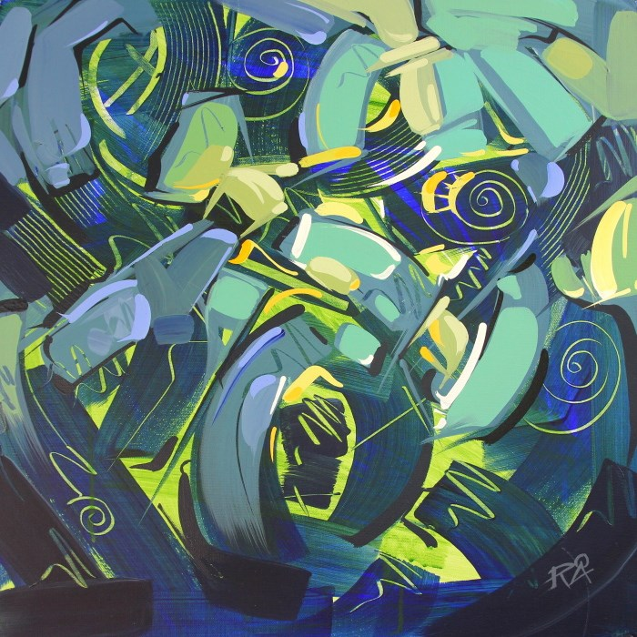 """""""Shapes & Movement 39"""" original fine art by Roger Akesson"""