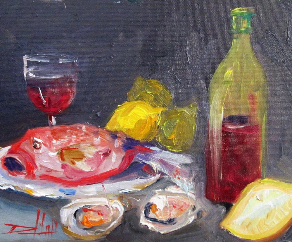 """Fis and Oysters"" original fine art by Delilah Smith"