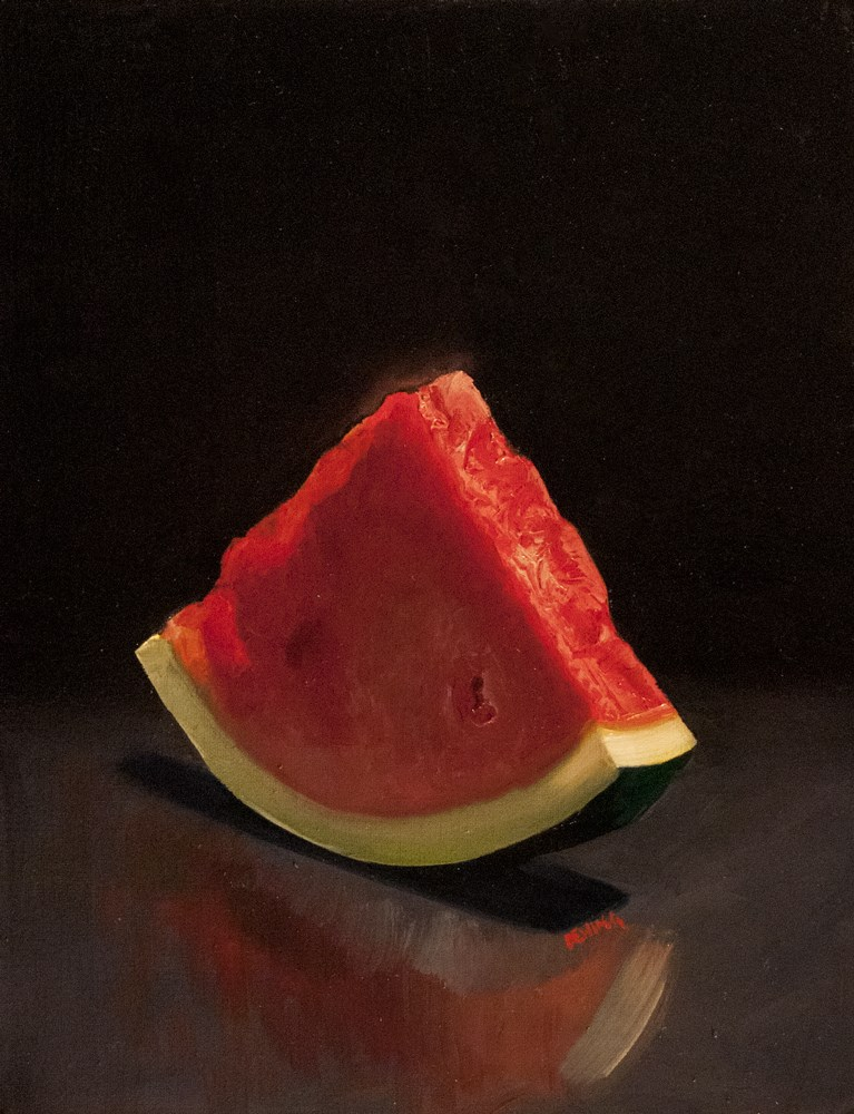 """watermelon"" original fine art by James Dewing"