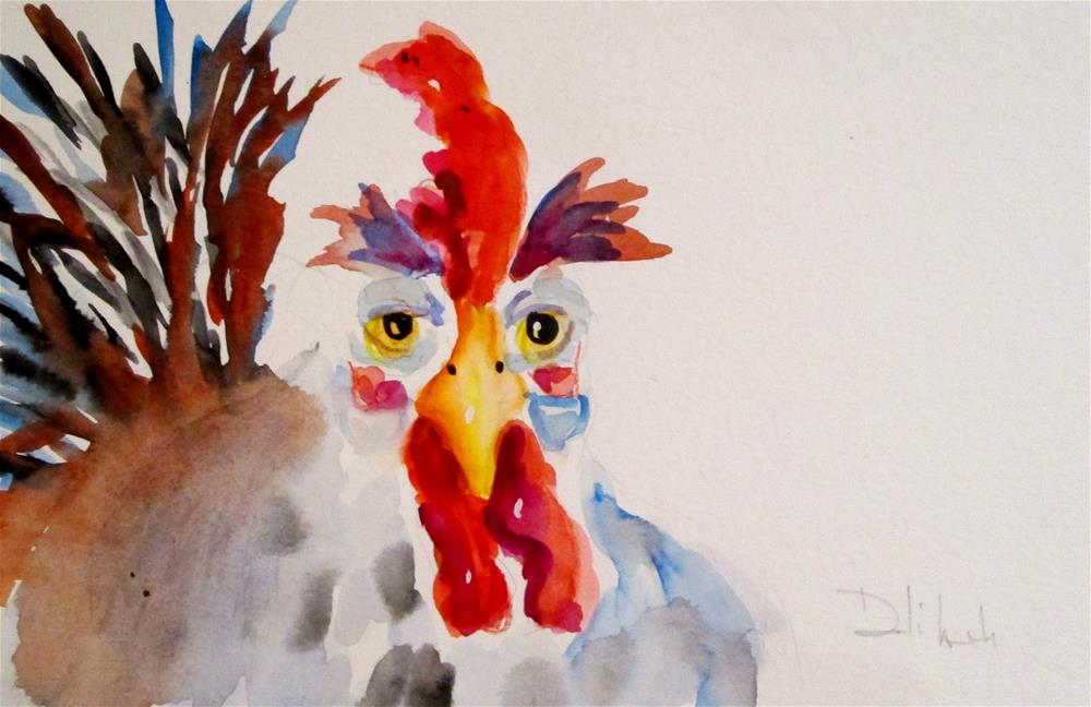 """""""Old Rooster"""" original fine art by Delilah Smith"""
