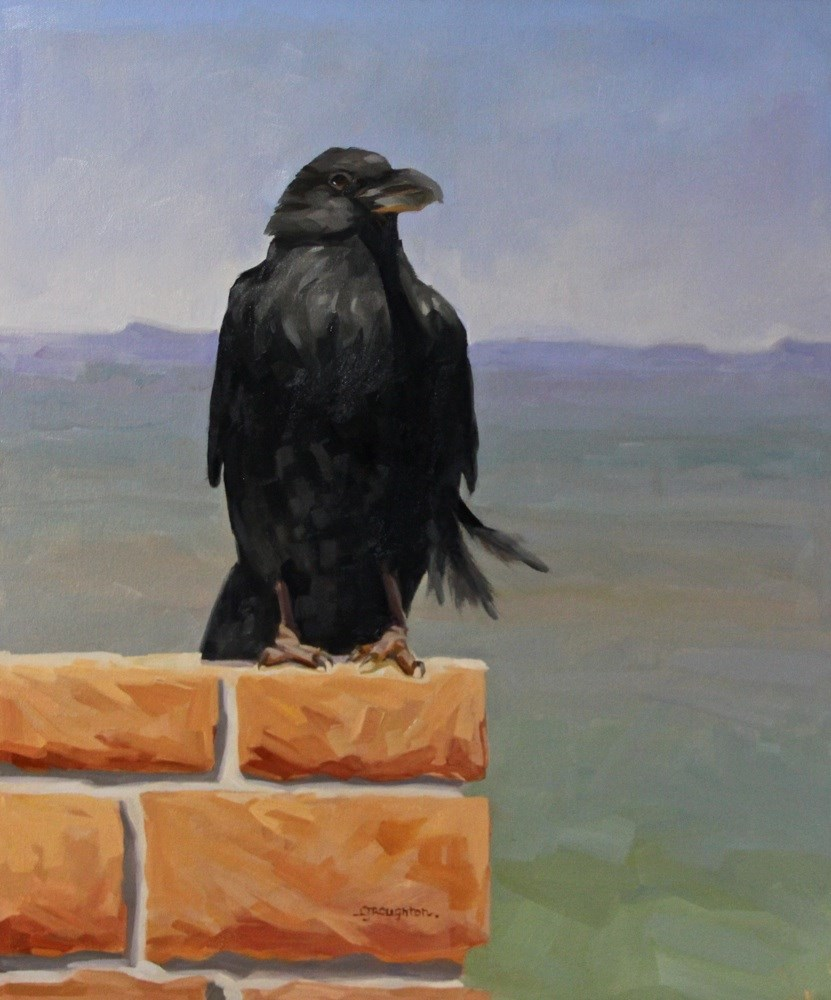 """""""Ravens Of Bryce Canyon-The Watch"""" original fine art by C J Roughton"""