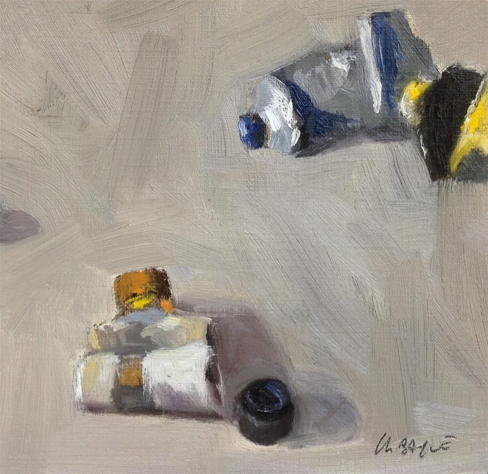 """Old paints #2"" original fine art by Christine Bayle"