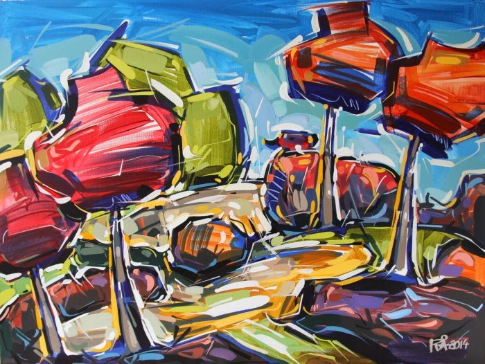 """Landscape Abstraction 5"" original fine art by Roger Akesson"