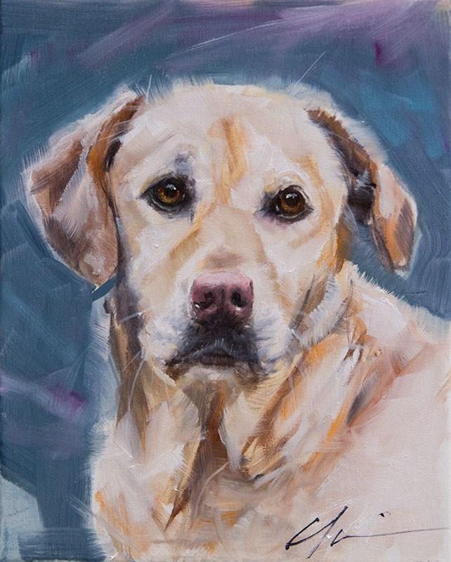 """PAINT MY DOG! #7"" original fine art by Clair Hartmann"
