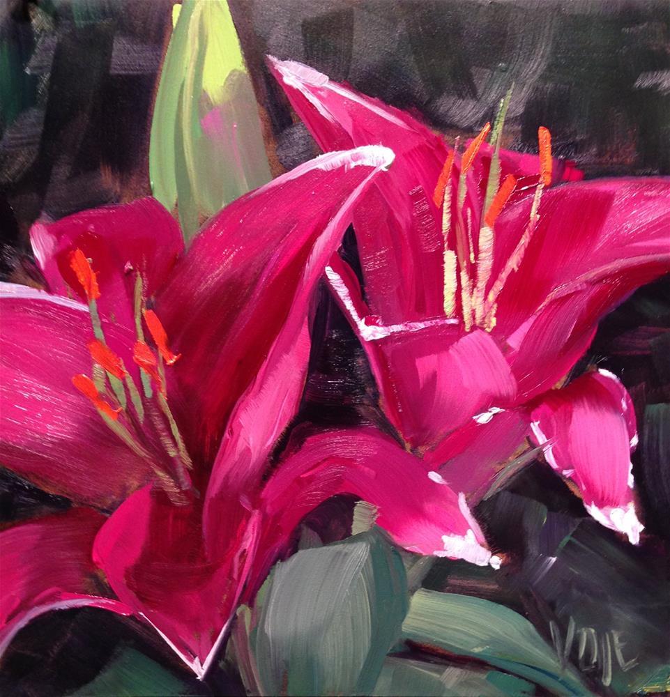 """#114 Pink Power"" original fine art by Patty Voje"