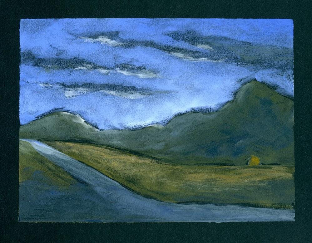 """Evening Mountain"" original fine art by Eileen Hennemann"
