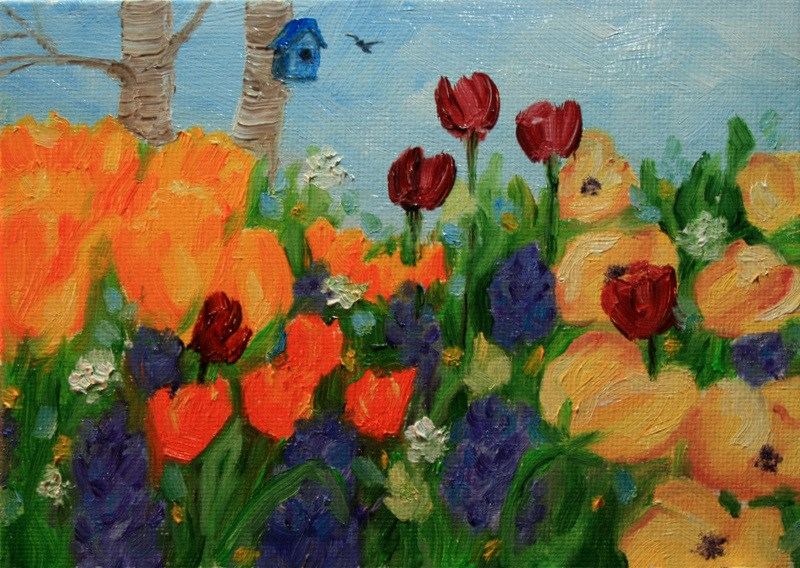 """Springing Forward"" original fine art by Jean Nelson"