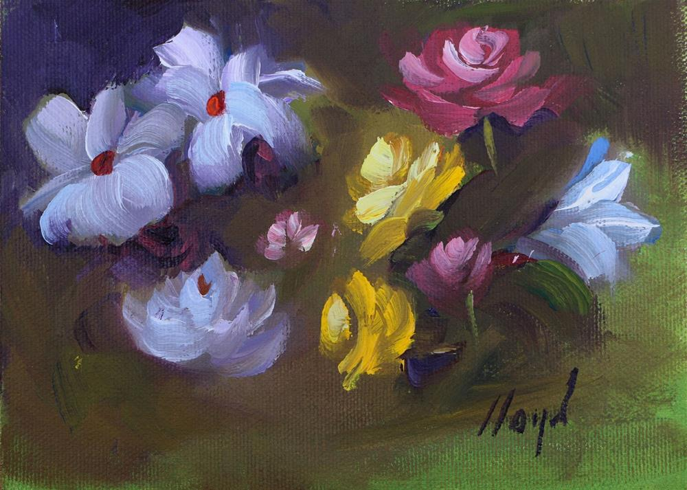 """""""A Variety of Blossoms"""" original fine art by Diane Lloyd"""