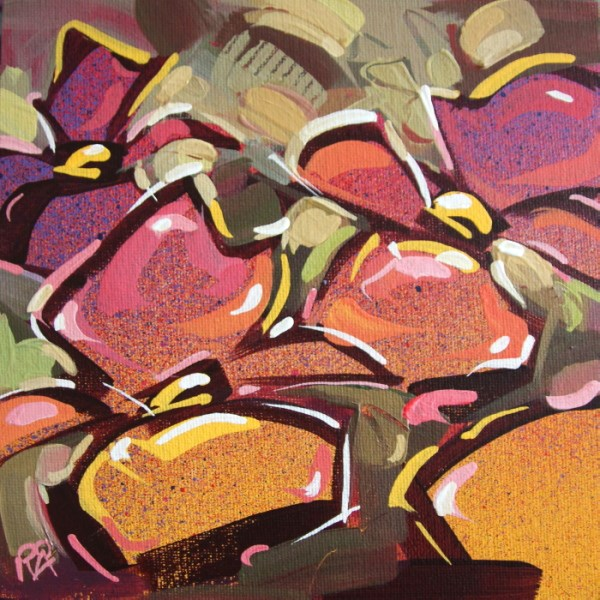 """""""Flower Abstraction 166"""" original fine art by Roger Akesson"""