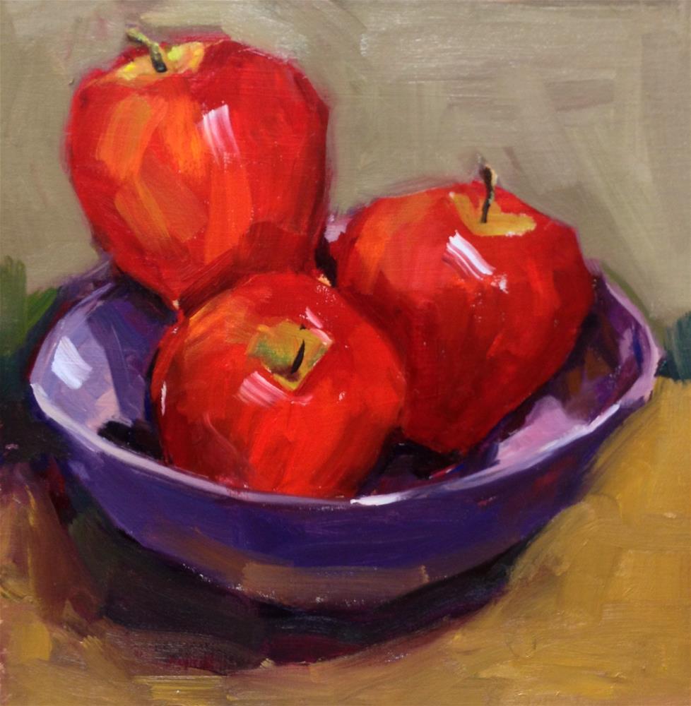 """The Bowl of Apples - Study 1"" original fine art by Laurie Johnson Lepkowska"
