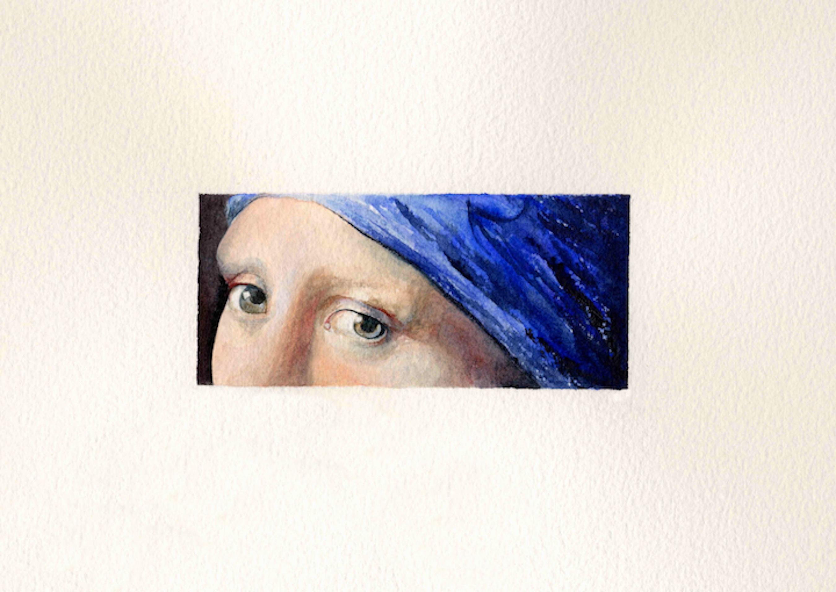 """""""Seeing Vermeer"""" original fine art by Patti Adams"""