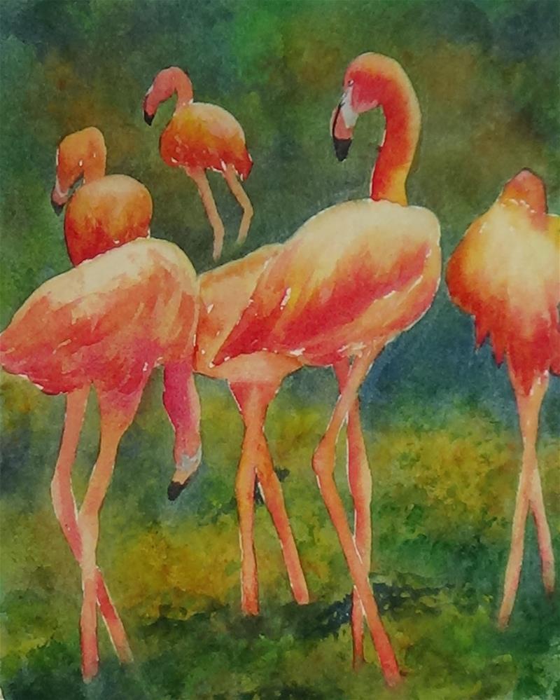 """Pink Parade"" original fine art by Darla Brock"
