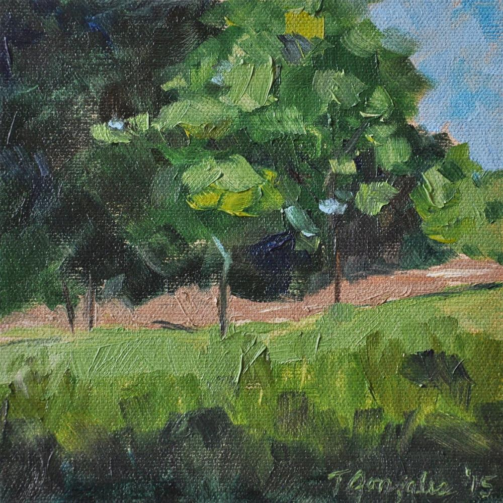 """""""A Walk in the Park"""" original fine art by Theresa Gonzales"""