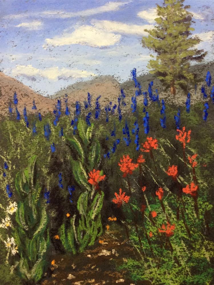 """""""SIERRA WILDFLOWERS"""" original fine art by Marti Walker"""