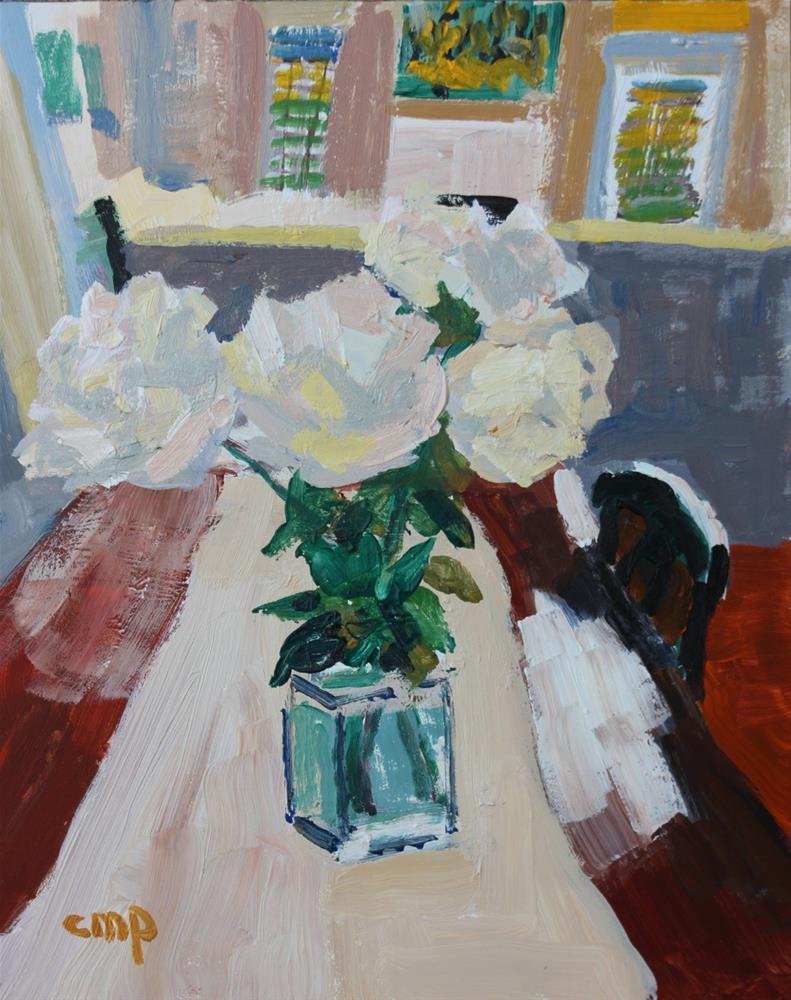 """Interior with Flowers"" original fine art by Christine Parker"