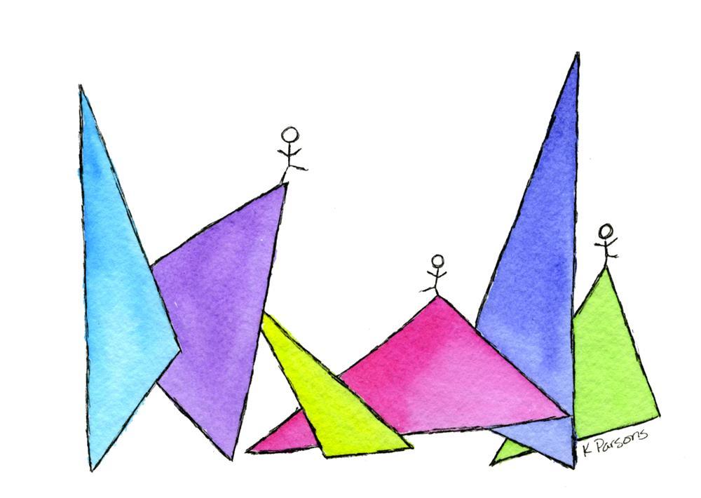 """On Triangles"" original fine art by Kali Parsons"