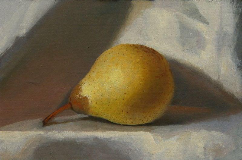 """Pear"" original fine art by Peter Orrock"