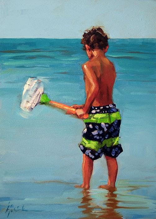 """Beach"" original fine art by Karin Jurick"