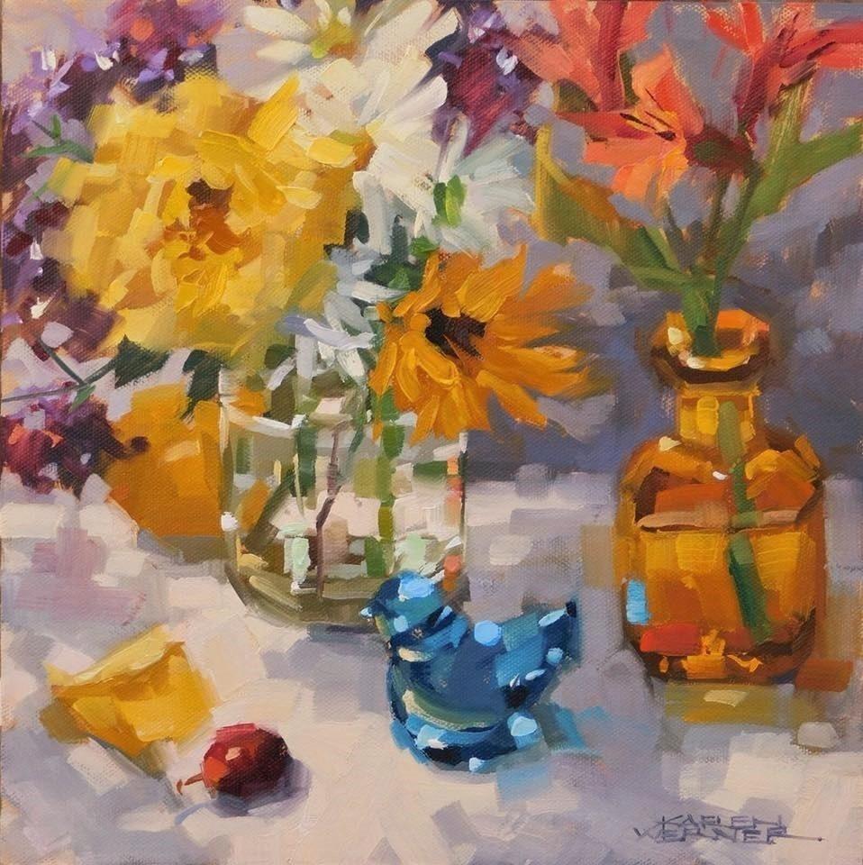 """Bloom & Sparkle"" original fine art by Karen Werner"