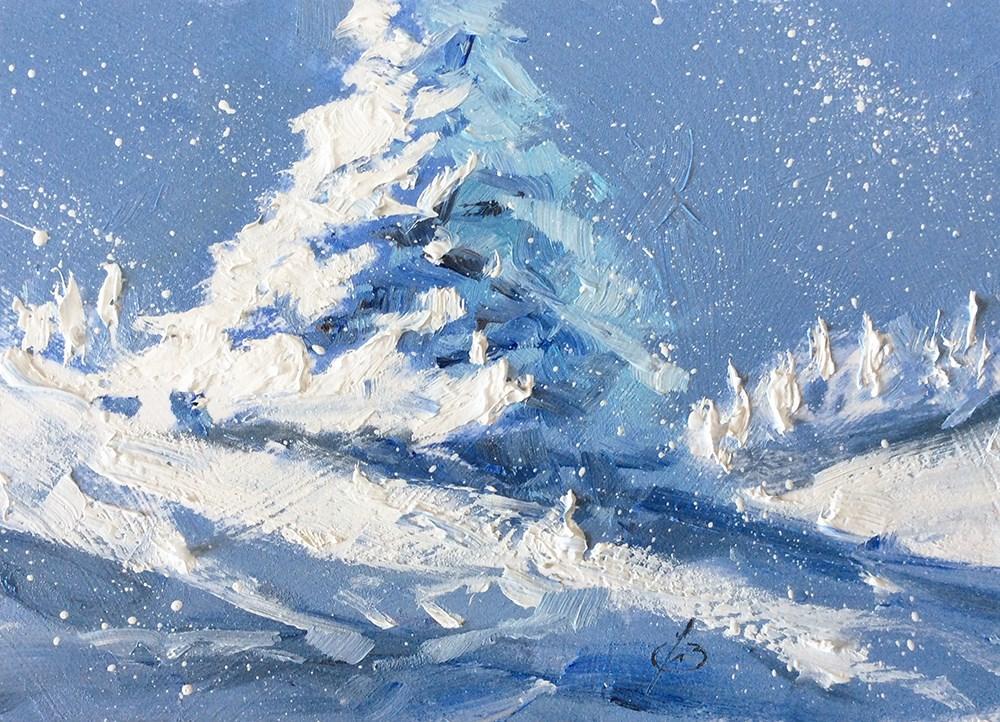 """THE SPIRIT OF CHRISTMAS"" original fine art by Tom Brown"