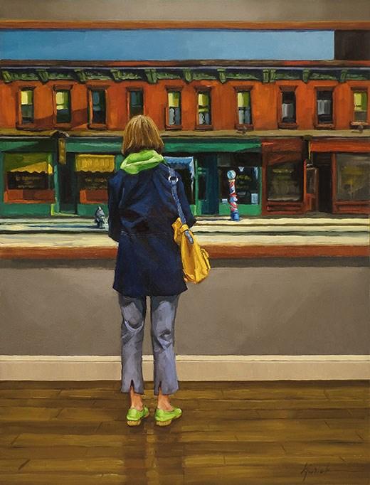 """Across The Street"" original fine art by Karin Jurick"