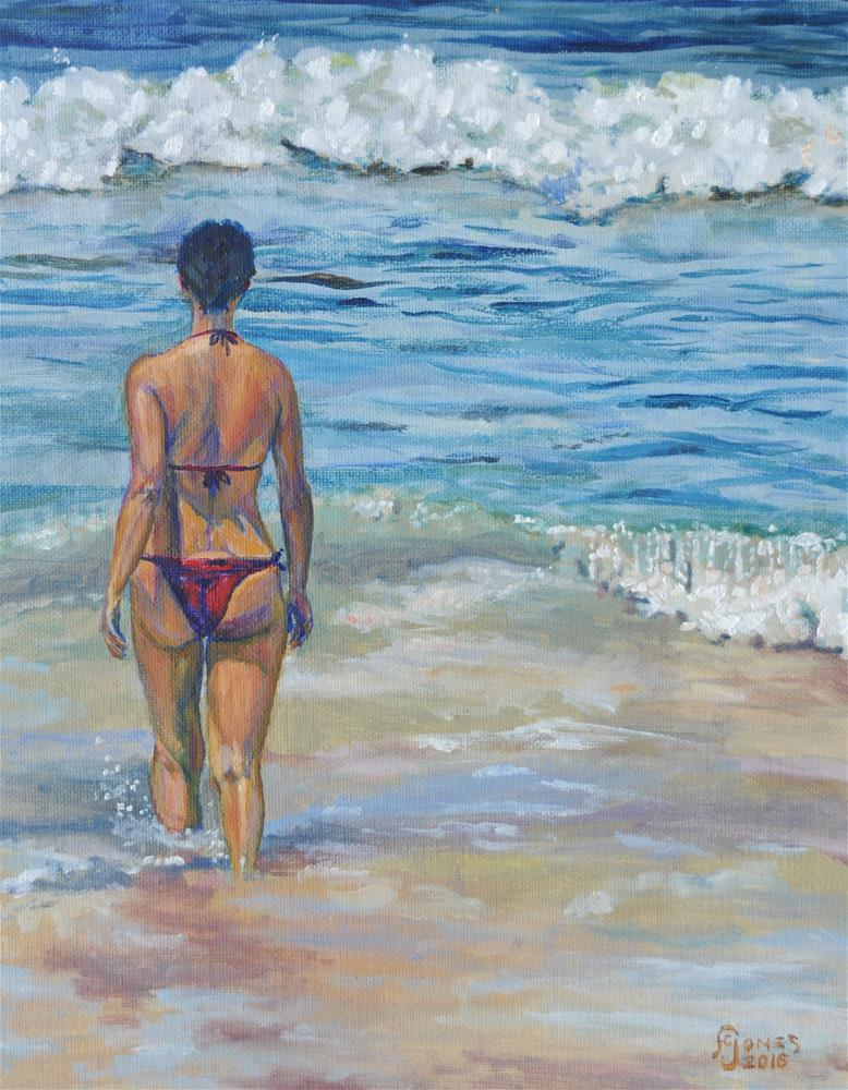 """""""Into the Surf"""" original fine art by Fred Jones"""