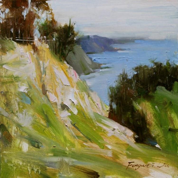 """Early Spring - Muir Beach"" original fine art by Fongwei Liu"
