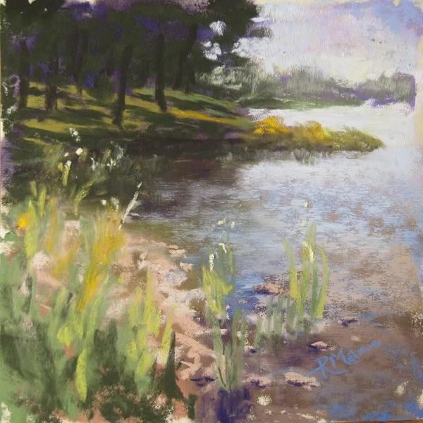 """Water's edge"" original fine art by Ruth Mann"