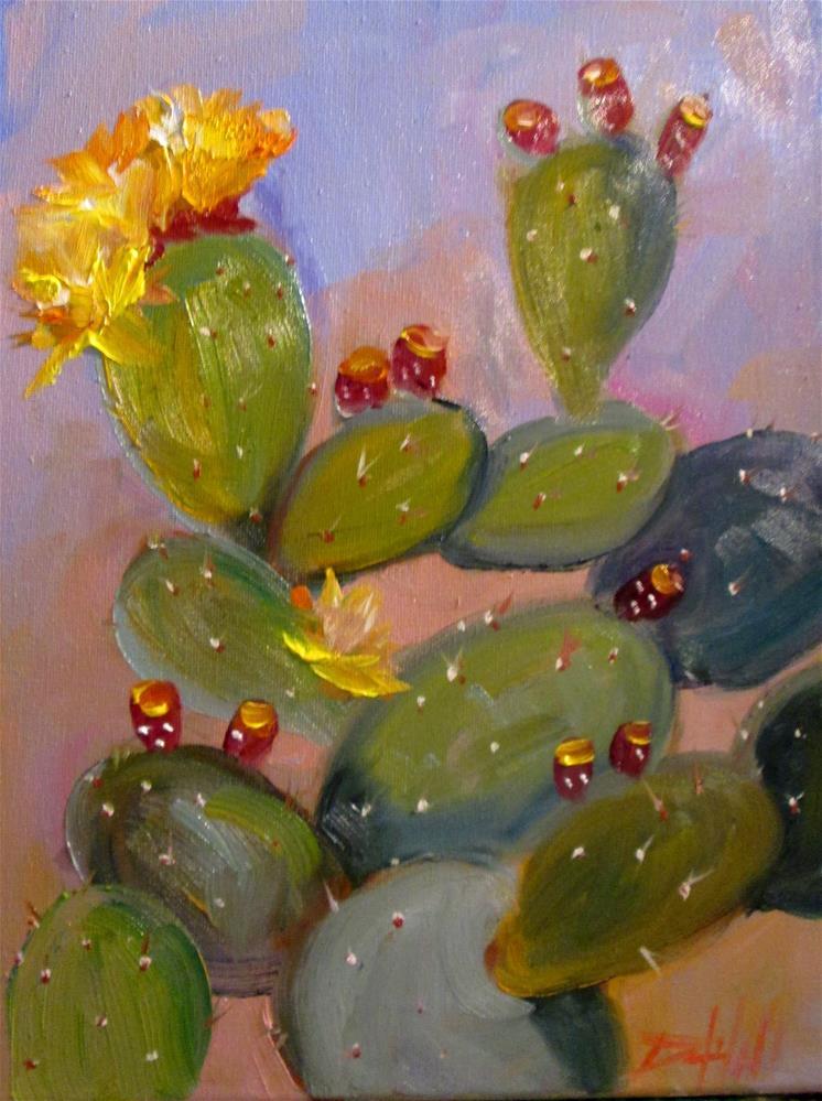 """Prickly Pear Cactus"" original fine art by Delilah Smith"
