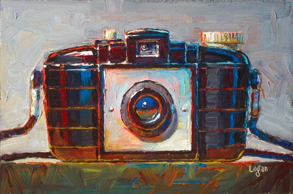 """Kodak Brownie 127 Camera"" original fine art by Raymond Logan"