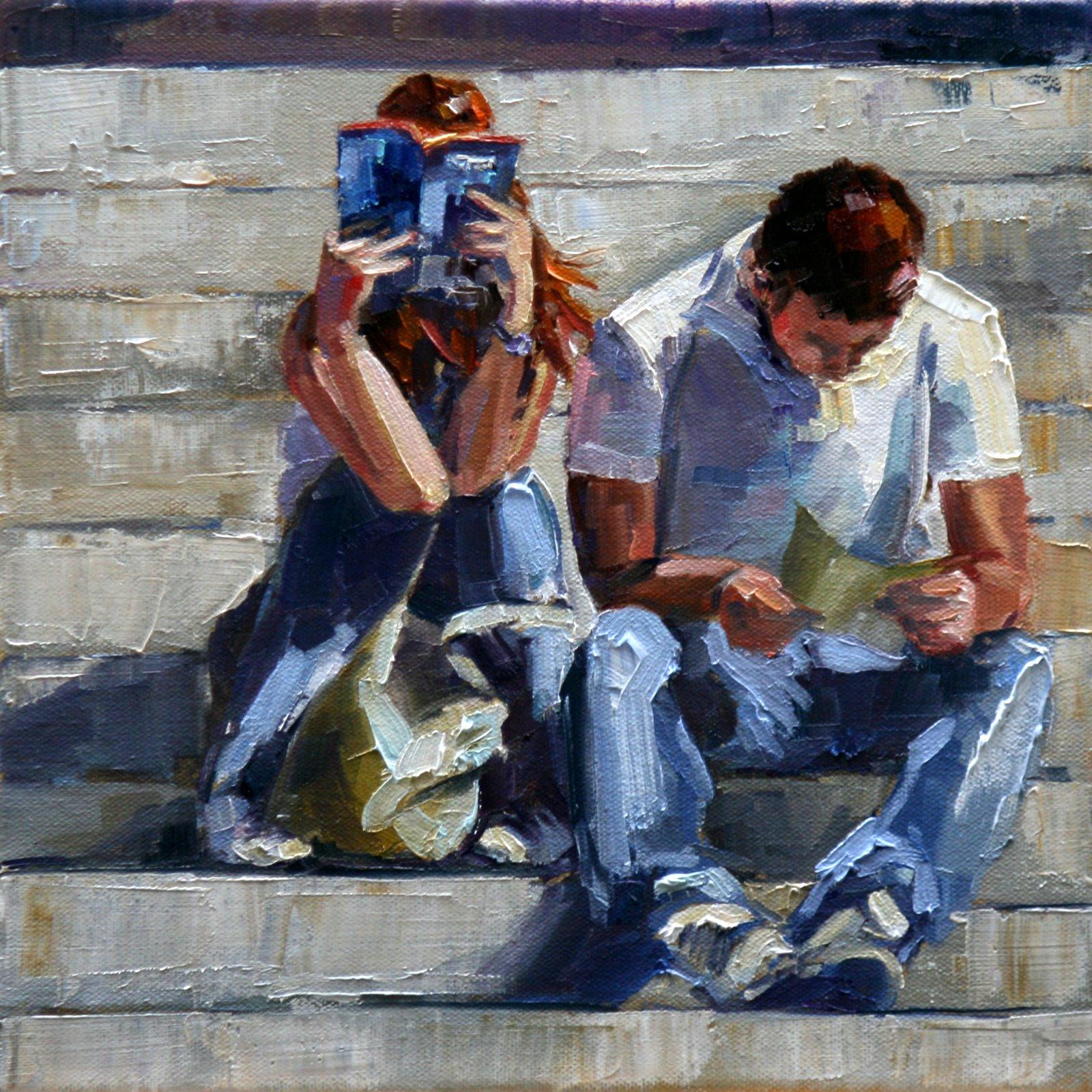 """""""well-read"""" original fine art by Carol Carmichael"""