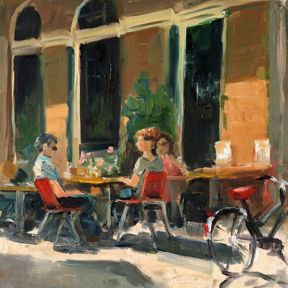 """""""Terrace in Amsterdam"""" original fine art by Miranda Dalessi"""