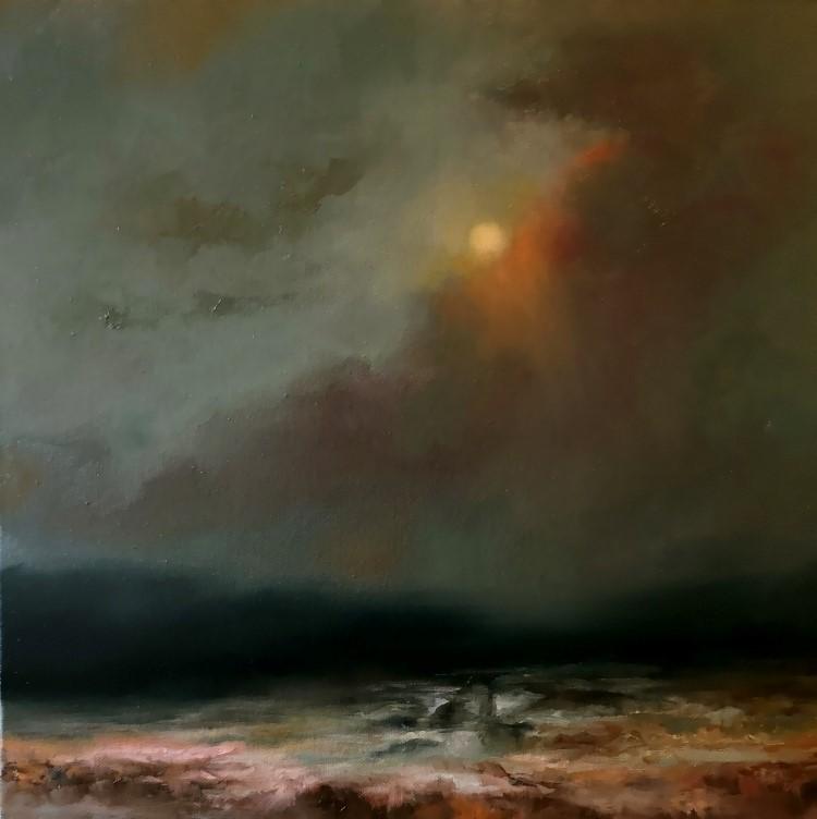 """Somewhere Down the Road"" original fine art by Christine E. S. Code"