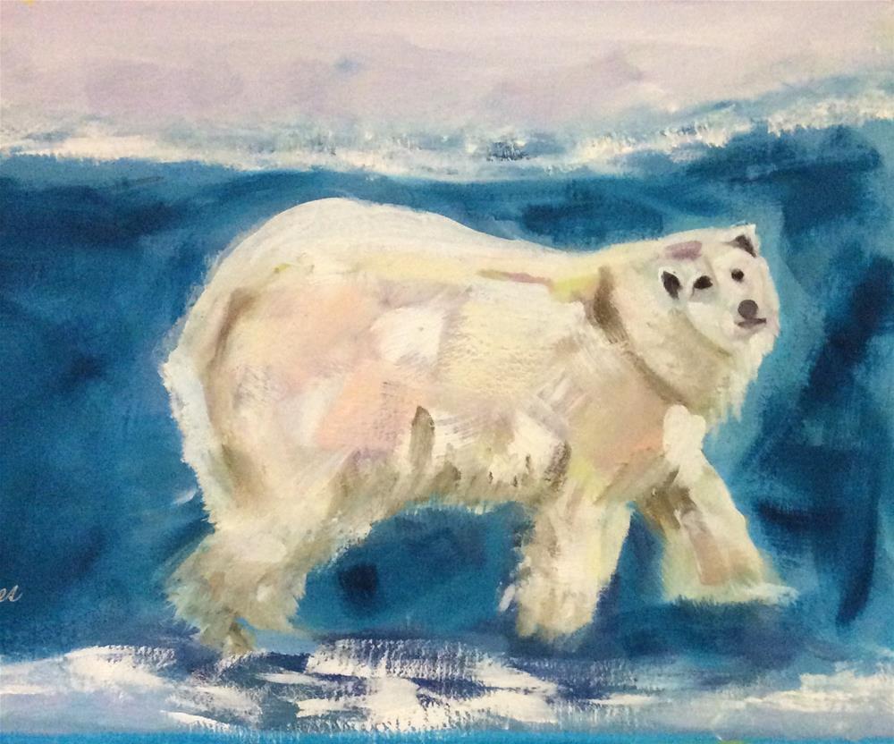"""Sarah's Polar Bear"" original fine art by Patty Barnes"