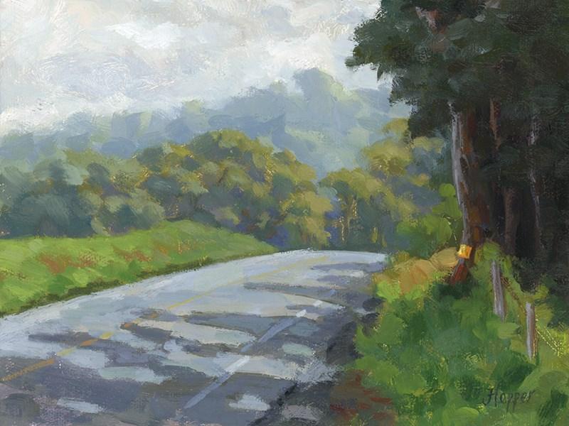 """""""Haleakala Road"""" original fine art by Joanne Hopper"""