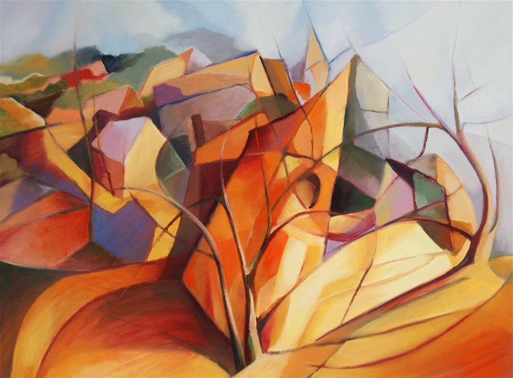 """Village church"" original fine art by Olga Touboltseva-Lefort"
