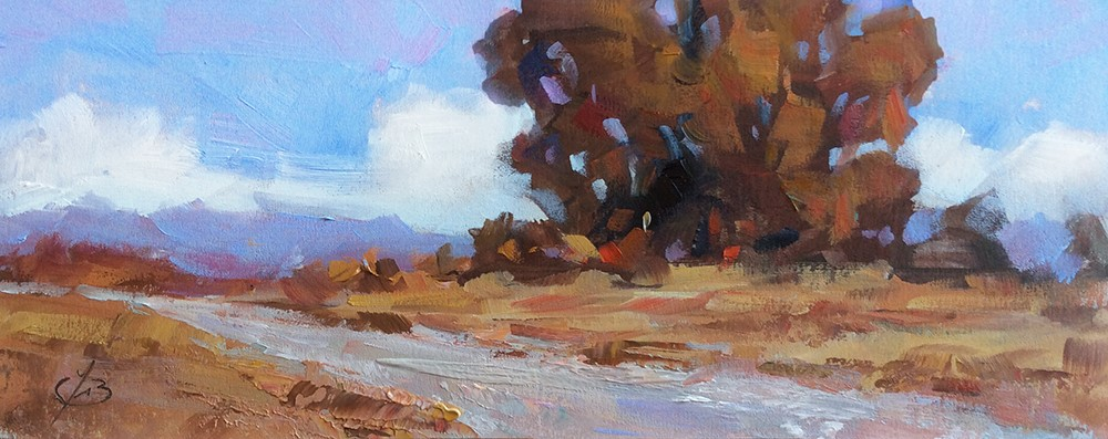 """WIDE OPEN SPACES"" original fine art by Tom Brown"