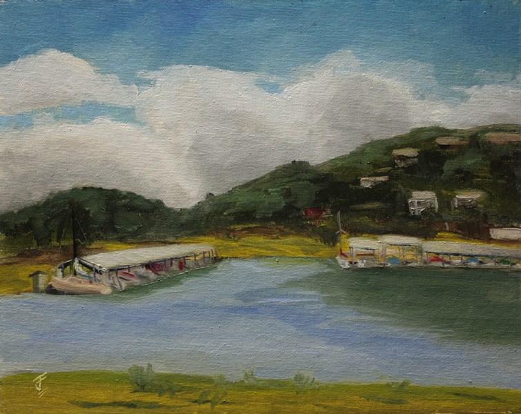 """Lago Vista Marina"" original fine art by Jane Frederick"