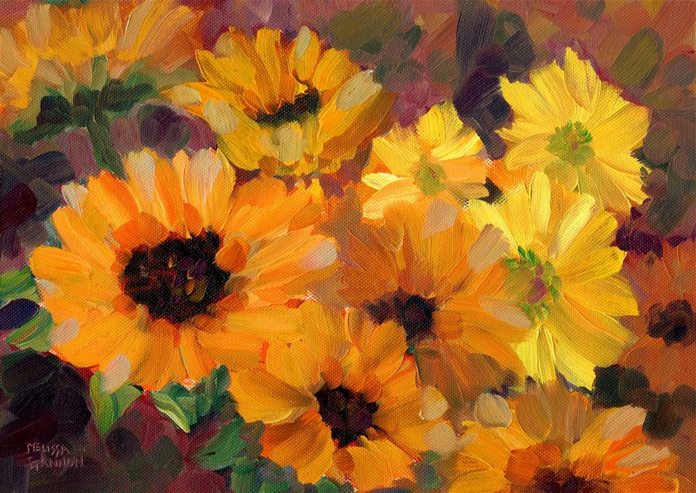 """Dancing Yellows"" original fine art by Melissa Gannon"