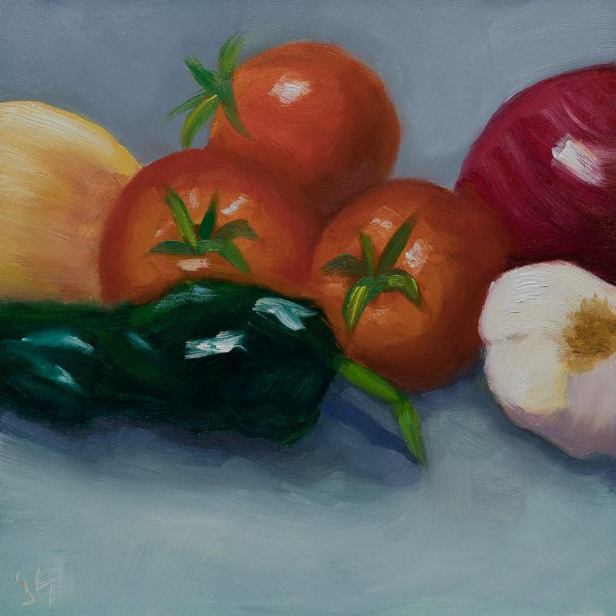 """Salsa Anyone?"" original fine art by Johnna Schelling"
