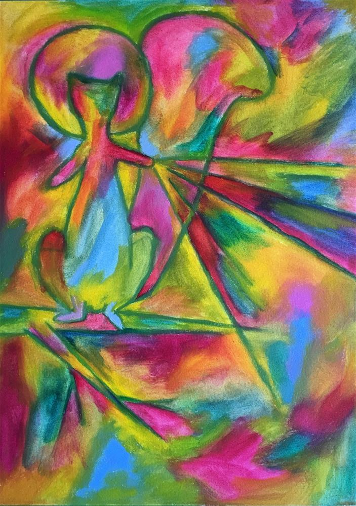 """Saint Squirrel"" original fine art by Tracy Wise"