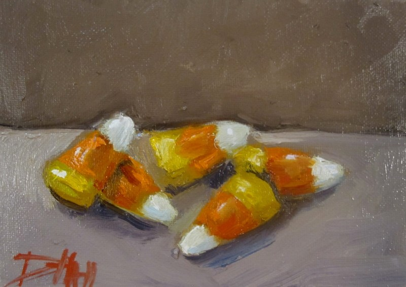 """Candy Corn"" original fine art by Delilah Smith"