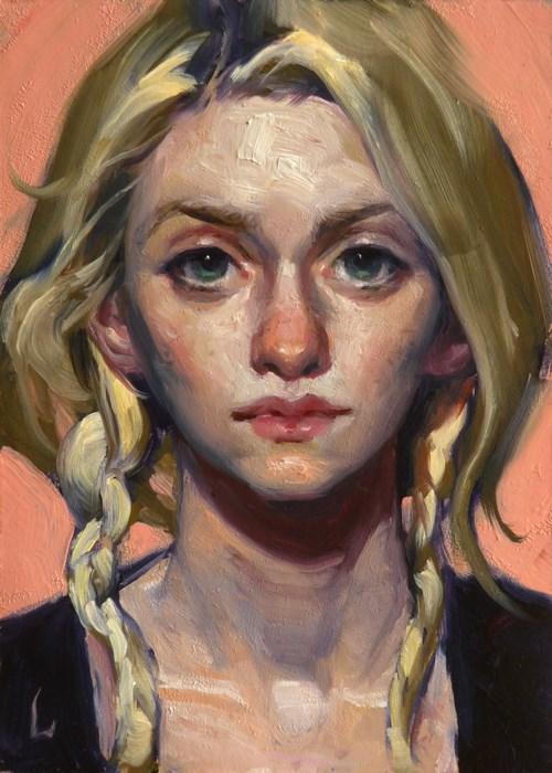 """Just Peachy"" original fine art by John Larriva"