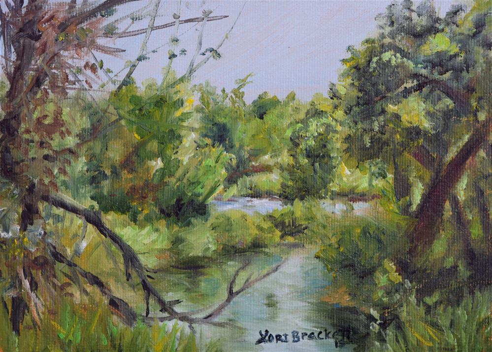 """Through the Trees"" original fine art by Lori Brackett"