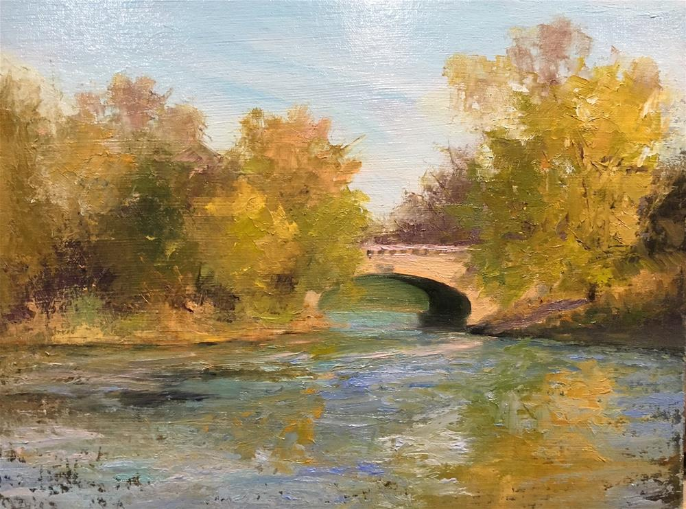 """""""Lake of the Isles in Autumn"""" original fine art by Judith Anderson"""