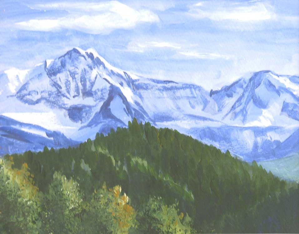"""Rocky Mountain Cool"" original fine art by Kim Victoria"