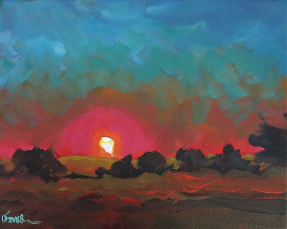 """sunset, untitled"" original fine art by Dee Sanchez"